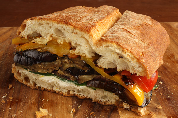Recipes for Health: Pressed Eggplant & Pepper Sandwich ...